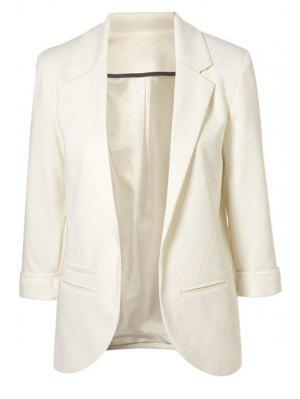 3/4 Sleeve Solid Color Blazer