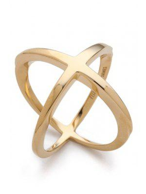 Cross Gold Plated Ring