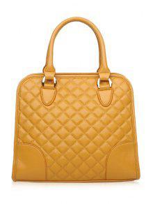 حقيبة سحاب مطبعة - الأصفر