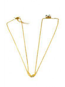 Rhinestone Embellished Body Chain - Golden