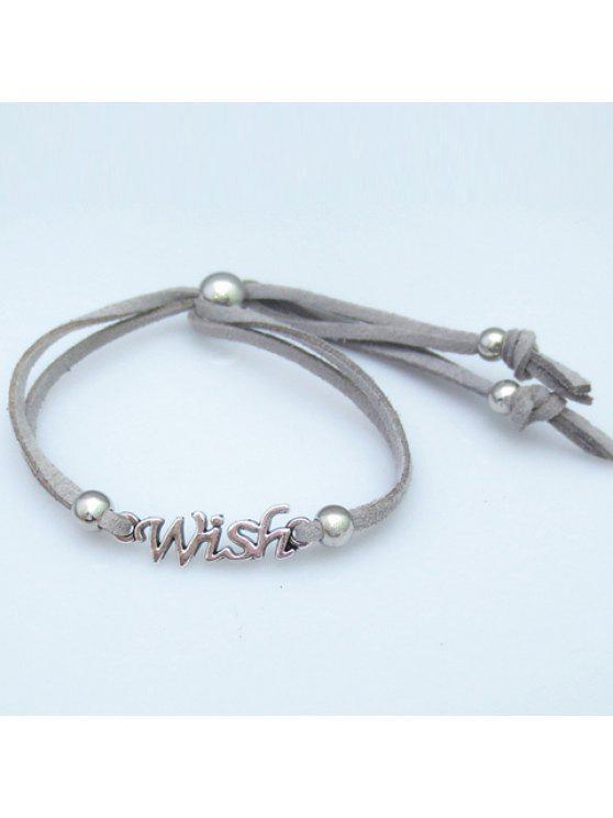 womens Trendy Letter Shape Women's Bracelet - GRAY