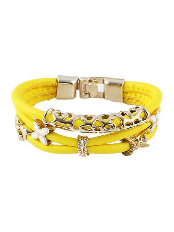shops Yellow Layered Bracelet - YELLOW