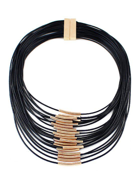 shop Multi-Layered Necklace - BLACK
