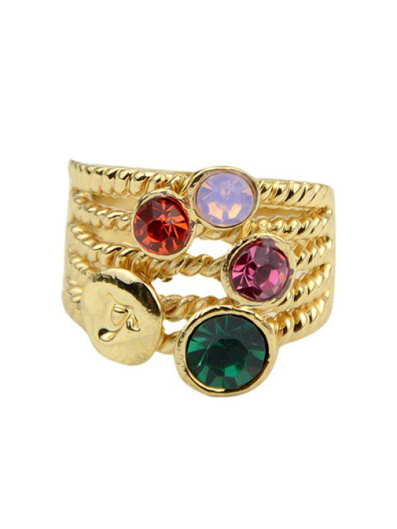 fancy Rhinestone Decorated Ring - COLORFUL ONE-SIZE