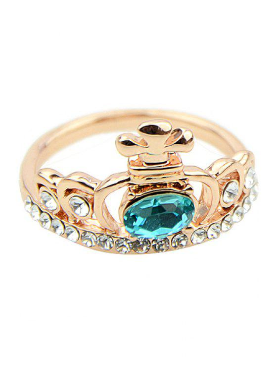 affordable Rhinestone Crown Ring - COLORMIX ONE-SIZE