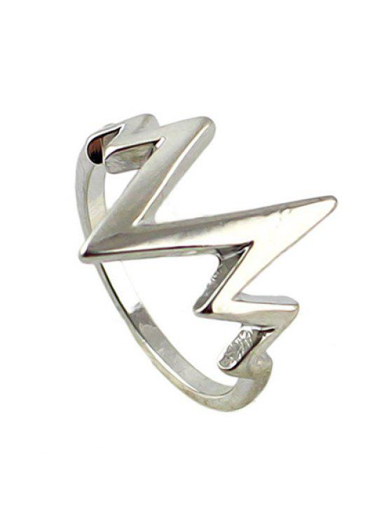 womens Solid Color Special Shape Ring - SILVER ONE-SIZE