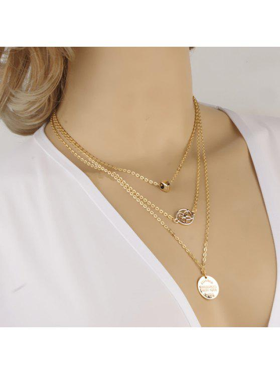 online Delicate Butterfly Openwork Layered Women's Necklace - GOLDEN