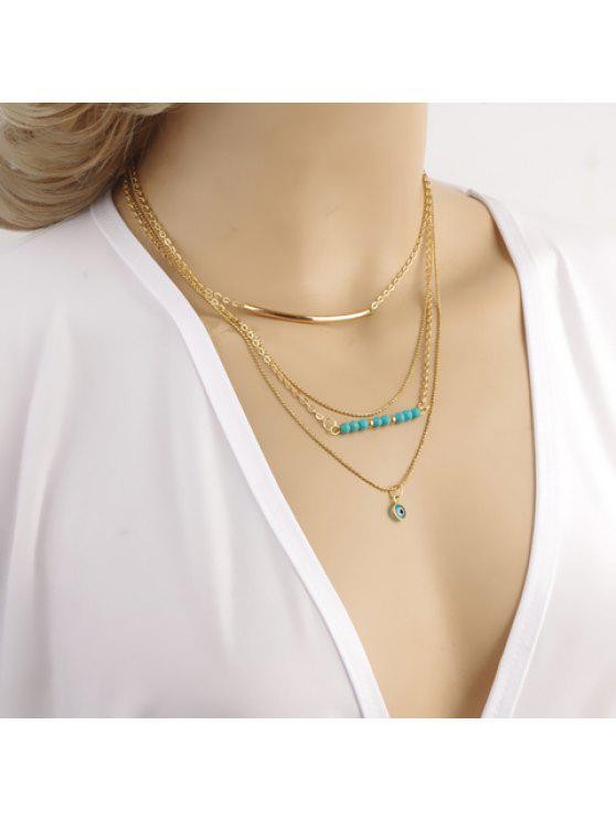 women's Delicate Kallaite Beads Multi-Layered Women's Necklace - AS THE PICTURE