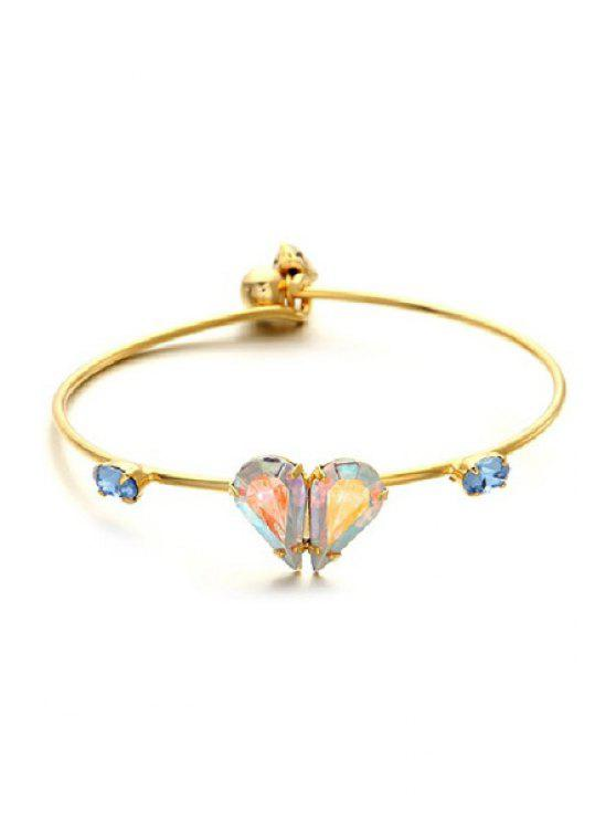 shops Faux Gem Heart Bracelet - COLORMIX