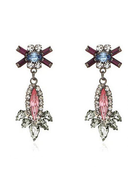 hot Pair of Crystal Pendant Earrings - COLORMIX