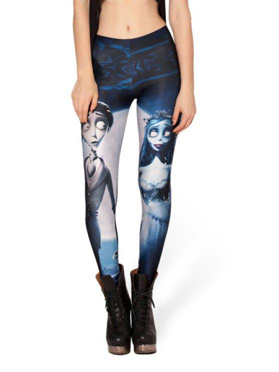 affordable Character Print Elastic Waist Leggings - COLORMIX ONE SIZE(FIT SIZE XS TO M)
