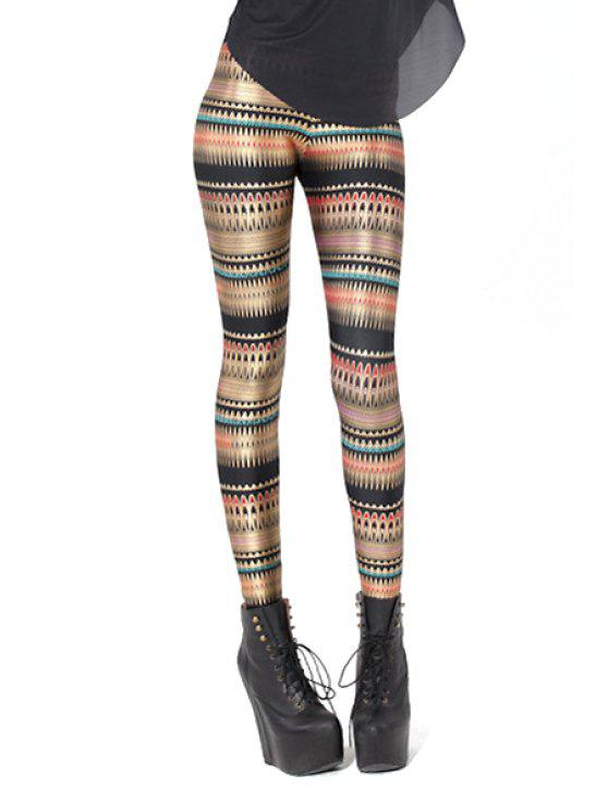 hot Colorful Striped Narrow Feet Leggings - COLORMIX ONE SIZE(FIT SIZE XS TO M)