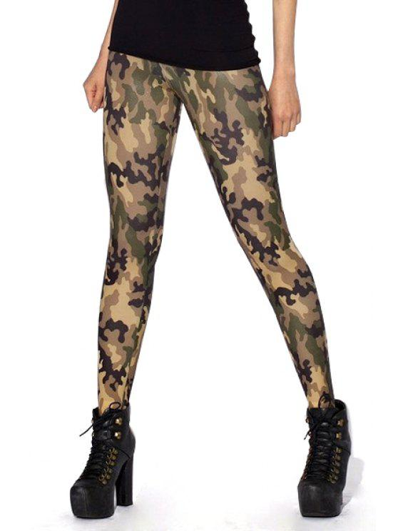 chic Camouflage Pattern Skinny Leggings - CAMOUFLAGE COLOR ONE SIZE(FIT SIZE XS TO M)