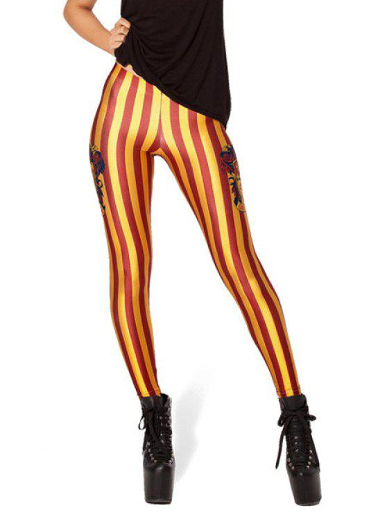 women's Striped Print Skinny Leggings - STRIPE ONE SIZE(FIT SIZE XS TO M)