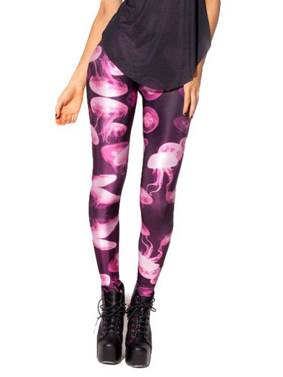outfits Jellyfish Print Skinny Leggings - COLORMIX ONE SIZE(FIT SIZE XS TO M)