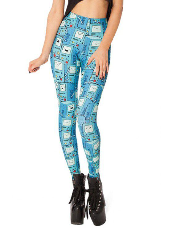 women's Machine Print Skinny Leggings - COLORMIX ONE SIZE(FIT SIZE XS TO M)