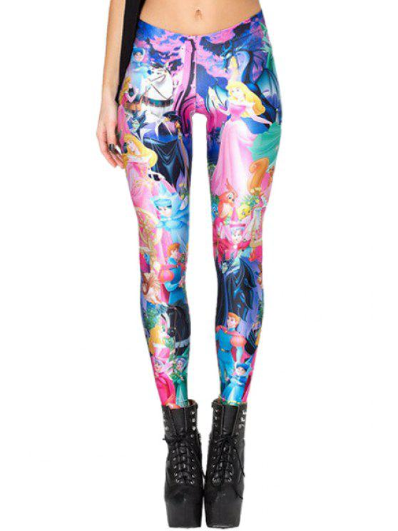 latest Cartoon Character Print Leggings - COLORMIX ONE SIZE(FIT SIZE XS TO M)