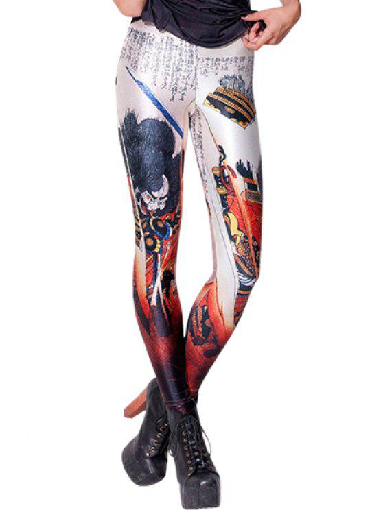 fancy Monster Print Skinny Leggings - COLORMIX ONE SIZE(FIT SIZE XS TO M)