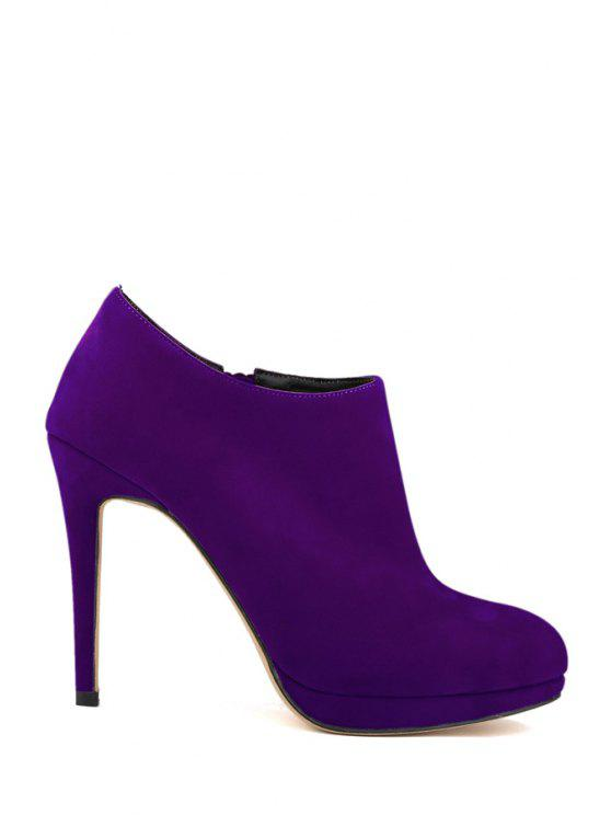 6bb76d3192fa 37% OFF  2019 Suede Sexy High Heel Ankle Boots In PURPLE