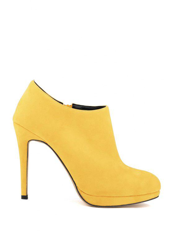 7ce6f85a6 31% OFF] 2019 Suede Sexy High Heel Ankle Boots In YELLOW 37 | ZAFUL