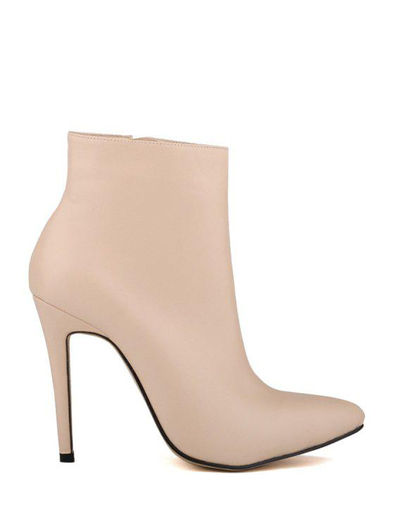shops Pointed Toe Stiletto Heel Boots - APRICOT 35