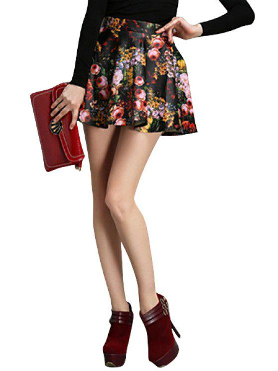 outfits Blossom Print Flouncing Skirt - COLORMIX S