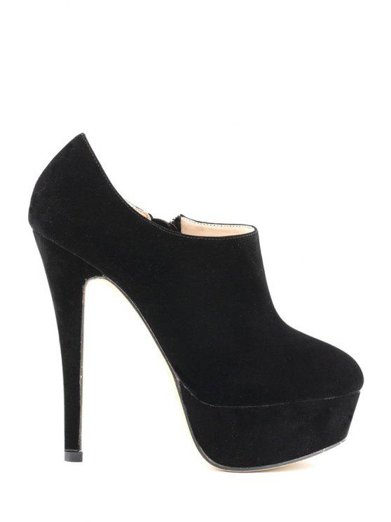 d13a1d494 33% OFF] 2019 Suede Platform Sexy High Heel Boots In BLACK | ZAFUL