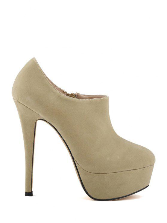 trendy Suede Platform Sexy High Heel Boots - APRICOT 40