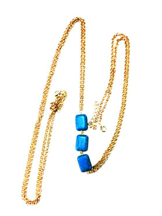 online Turquoise Design Body Chain - COLOR ASSORTED