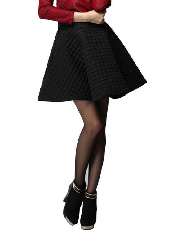 ladies Flouncing Solid Color Skirt - BLACK S