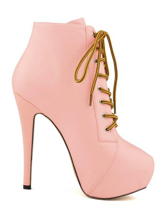 836d7a405e3 39% OFF  2019 Sexy High Heel Platform Solid Color Boots In PINK