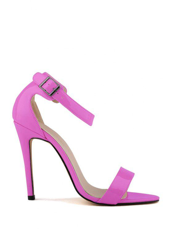 outfit Sexy High Heel Patent Leather Buckle Pumps - PURPLE 36