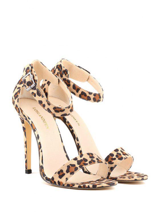 latest Sexy High Heel Buckle Sandals - LEOPARD 39