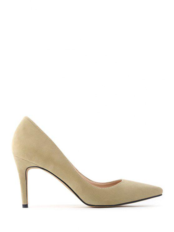 outfit Pointed Toe Suede Stiletto Heel Pumps - APRICOT 40