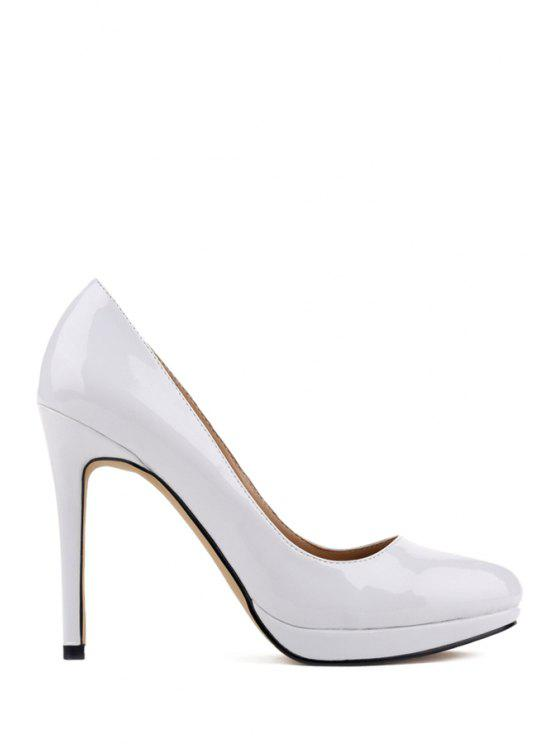 e3d7b70178c 42% OFF  2019 Patent Leather Sexy High Heel Pumps In WHITE