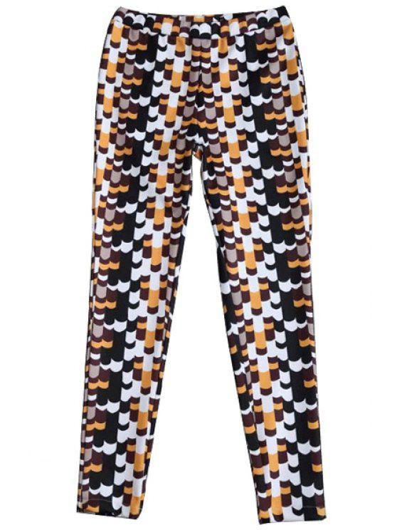 womens Print Straight Leg Pants - COLORMIX S