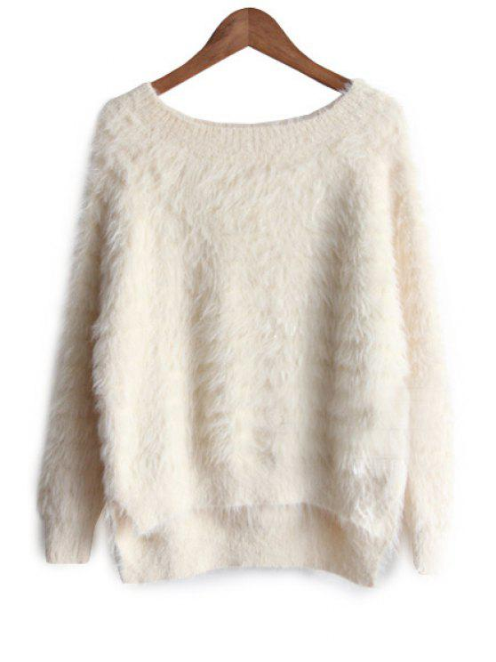 new Solid Color Mohair Sweater - APRICOT ONE SIZE(FIT SIZE XS TO M)