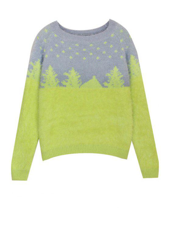 outfits Christmas Tree Pattern Mohair Sweater - COLORMIX ONE SIZE(FIT SIZE XS TO M)