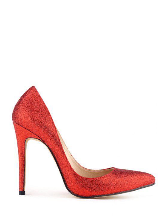 sale Bling-Bling Stiletto Heel Pumps - RED 35