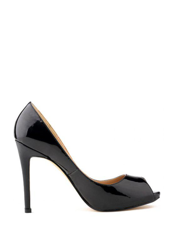 fb0c5f5261c 38% OFF  2019 Sexy High Heel Patent Leather Shoes In BLACK 38