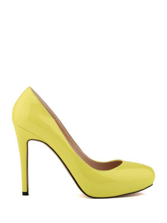best Sexy High Heel Round Toe Pumps - DAFFODIL 37