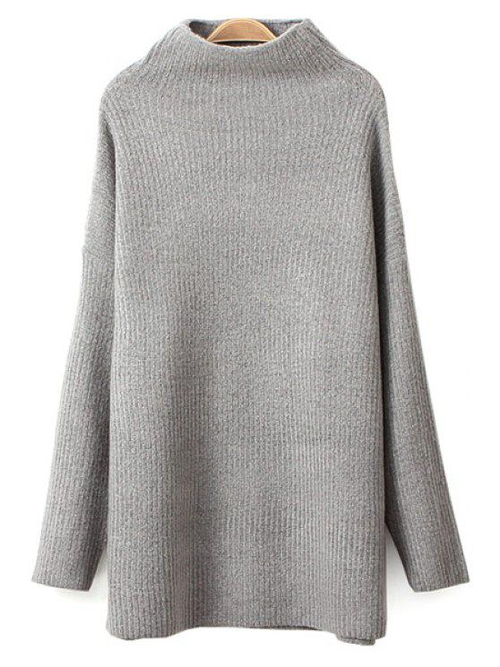 women Long Sleeves Solid Color Sweater - GRAY ONE SIZE(FIT SIZE XS TO M)