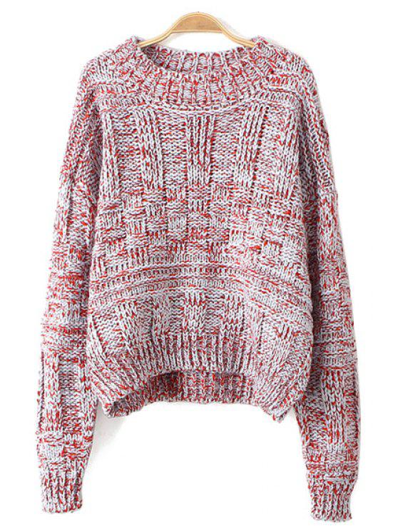 best Color Mixed Long Sleeves Sweater - JACINTH ONE SIZE(FIT SIZE XS TO M)