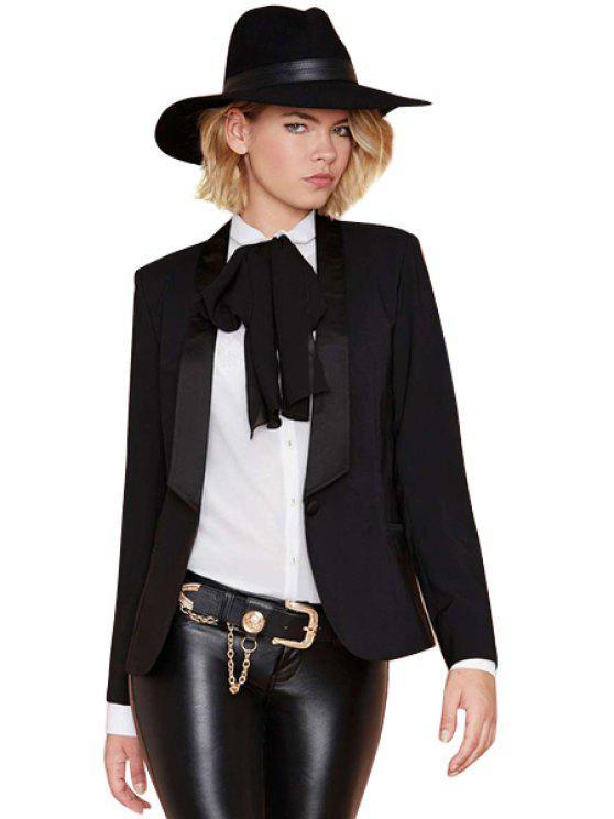 sale Black Long Sleeve Blazer - BLACK XS