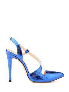 Sexy High Heel Elastic Design Pumps - Blue 36