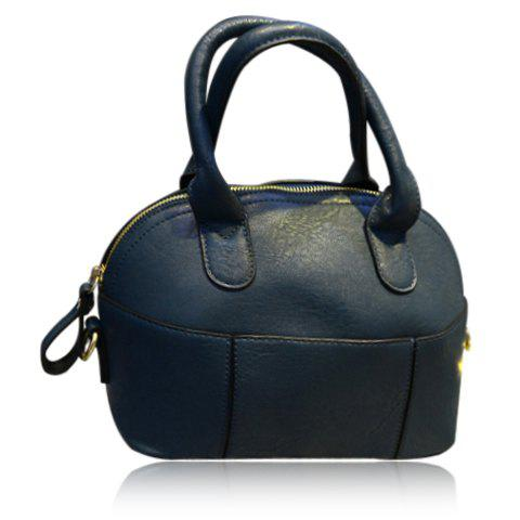 Cute PU Leather and Solid Color Design Women s Tote Bag