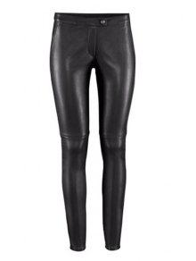 Buy Solid Color PU Leather Narrow Feet Pants - BLACK 2XL