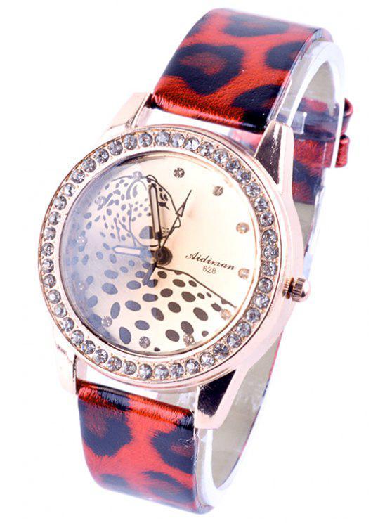 best Rhinestoned Leopard Pattern Watch - RANDOM COLOR