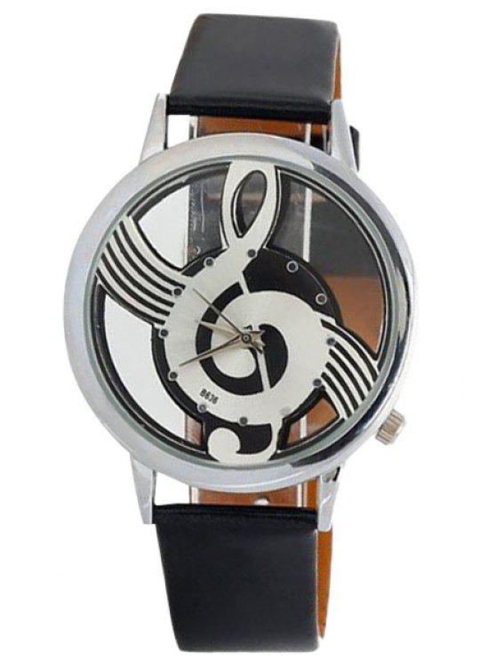 unique Musical Note Pattern Watch - BLACK