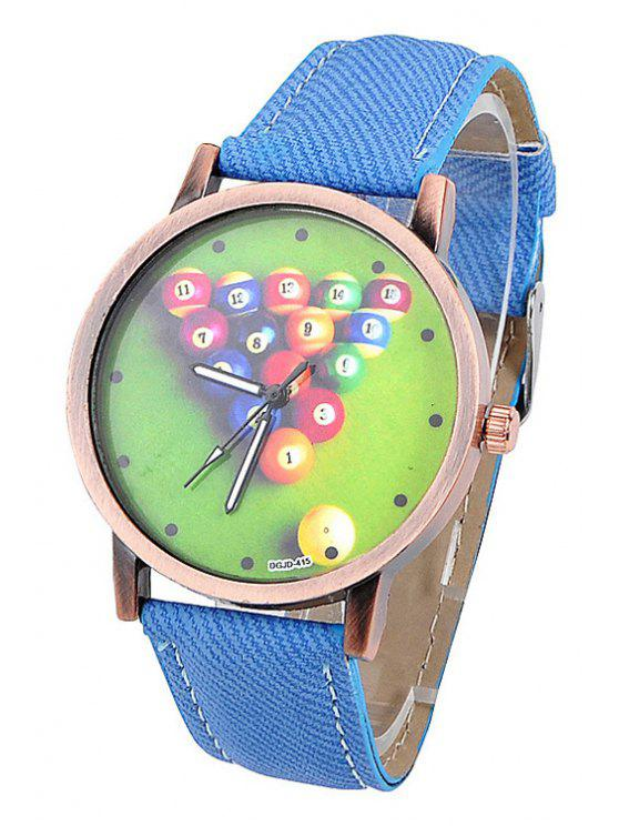 lady Billiards Pattern Denim Watch - DEEP BLUE